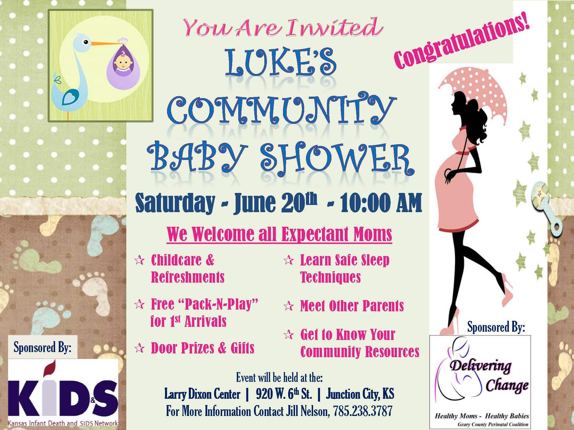 luke s community baby shower delivering change froyo junction